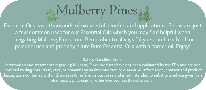 Mulberry Pines Essential Oil Uses
